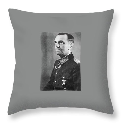 General Friedrich Wilhelm Ernst Paulus 1942 Throw Pillow featuring the photograph General Friedrich Wilhelm Ernst Paulus 1942 by David Lee Guss