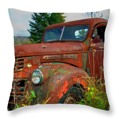 General Throw Pillow featuring the photograph General Motors Truck by Alana Ranney