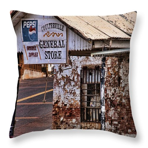 Couterville Throw Pillow featuring the photograph General Store by Bonnie Bruno