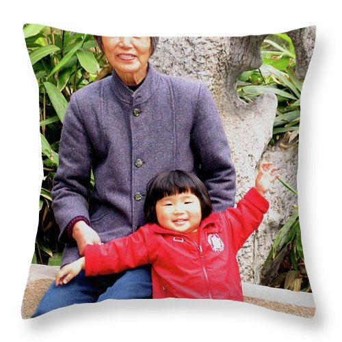 China Throw Pillow featuring the photograph Generation by Marti Green