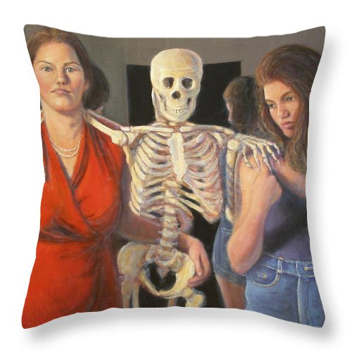 Realism Throw Pillow featuring the painting Generations #2 by Donelli DiMaria