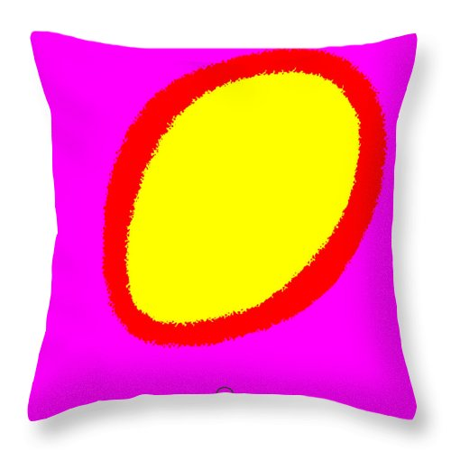 Square Throw Pillow featuring the digital art Genesis by Eikoni Images