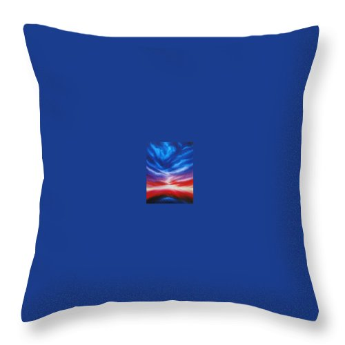 Tempest Throw Pillow featuring the painting Genesis IIi by James Christopher Hill