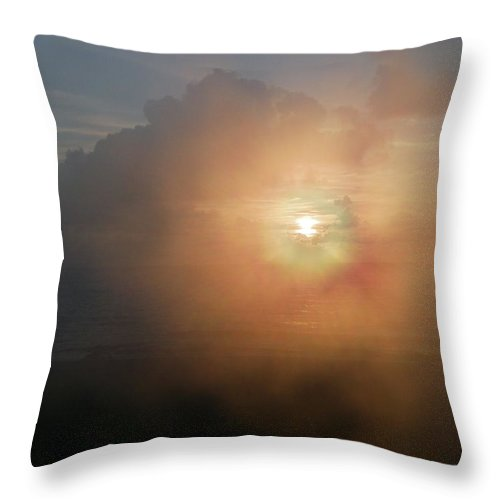 Sunrise Throw Pillow featuring the photograph Genesis by Peggy King