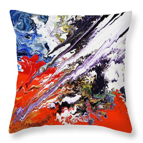 Fusionart Throw Pillow featuring the painting Genesis by Ralph White