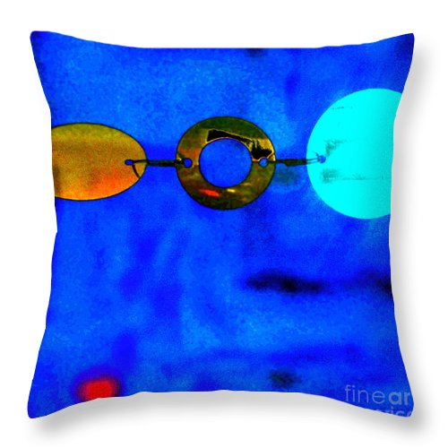 Abstract Throw Pillow featuring the photograph Genisis 3 by Deb Cohen