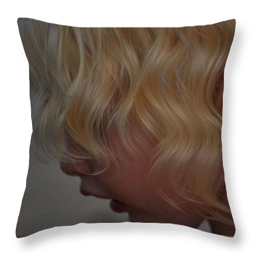 Little Girl Throw Pillow featuring the photograph Gentle Beauty by Laura Leigh McCall