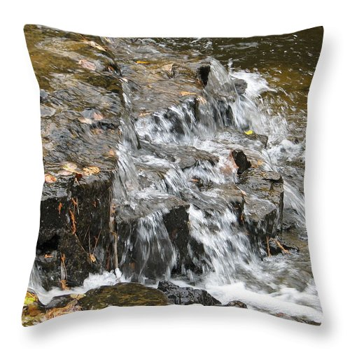 Waterfall Throw Pillow featuring the photograph Gentle Falls by Kelly Mezzapelle