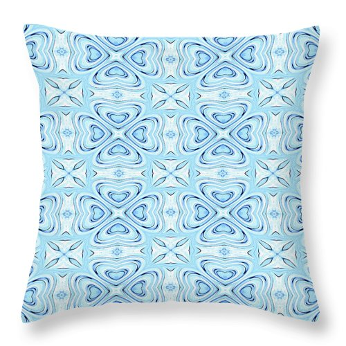 Abstract Throw Pillow featuring the digital art Gentle Persuasions by Debra Lynch