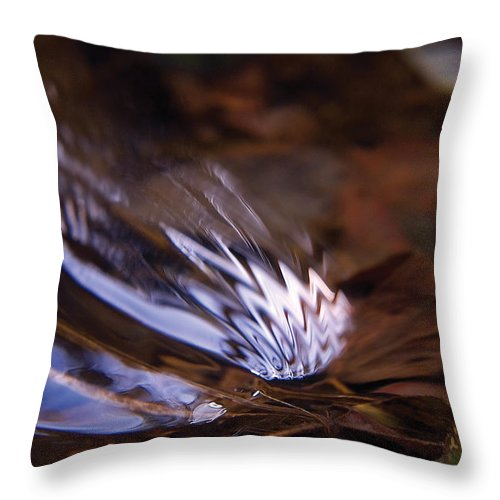 Ripple Throw Pillow featuring the photograph Gentle Ripple In River by Steve Somerville