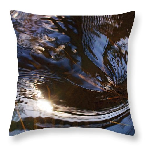 River Throw Pillow featuring the photograph Gentle River Ripple-1 by Steve Somerville