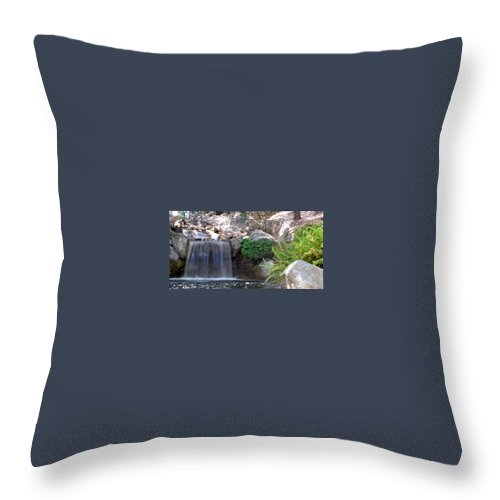 Water Throw Pillow featuring the photograph Gentle Waterfall by Amy Fose
