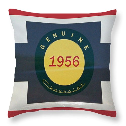 Chevy Throw Pillow featuring the photograph Genuine 1956 Chevrolet by Gwyn Newcombe
