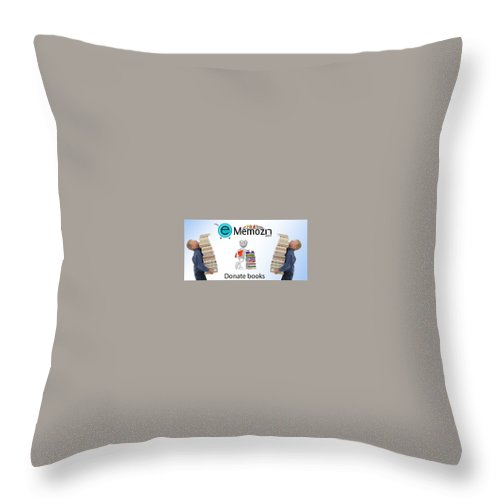 Geography Books Online Throw Pillow featuring the digital art Geography Online Books Library by Memozin Pvt Ltd