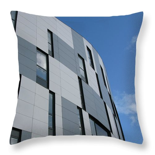 Architecture Throw Pillow featuring the photograph Geometric Intrigue by Ann Horn