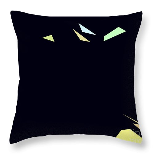 Graphic Throw Pillow featuring the digital art Geometric by Jacqueline Milner