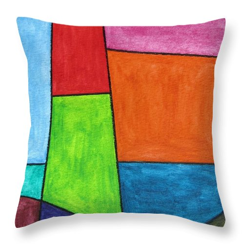 Throw Pillow featuring the digital art Geometric Lighthouse by Jeffrey Todd Moore