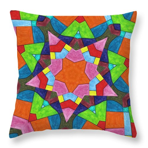 Throw Pillow featuring the digital art Geometric Pattern 1 by Jeffrey Todd Moore