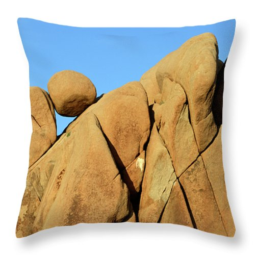 Joshua Tree National Park Throw Pillow featuring the photograph Geometry At Play by Bob Christopher