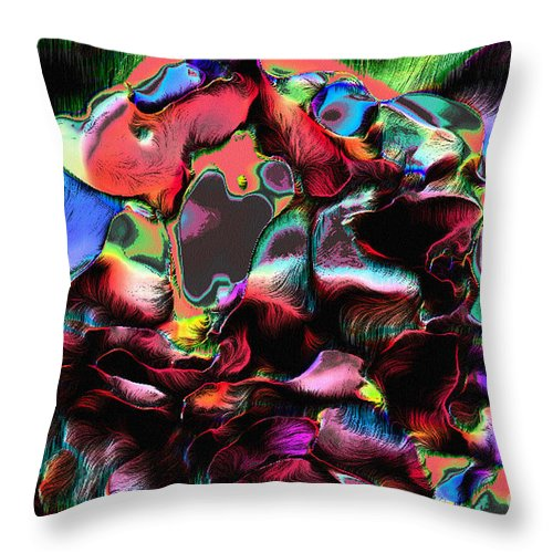 Abstract Throw Pillow featuring the photograph Geranium Gone Wild by Dee Flouton