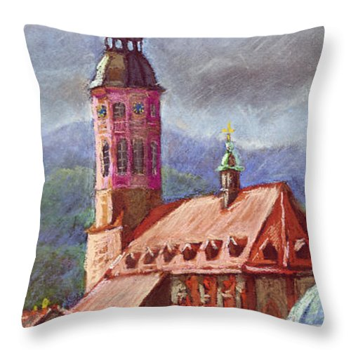 Pastel.germany Throw Pillow featuring the painting Germany Baden-baden 05 by Yuriy Shevchuk