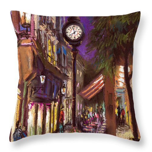 Pastel Throw Pillow featuring the painting Germany Baden-baden 11 by Yuriy Shevchuk
