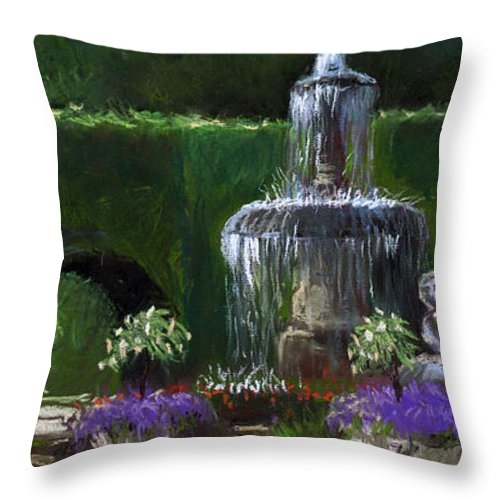 Pastel Throw Pillow featuring the painting Germany Baden-baden 15 by Yuriy Shevchuk