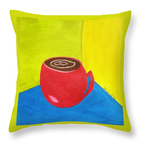 Get Around Throw Pillow featuring the painting Get Around It by Beth Cornell