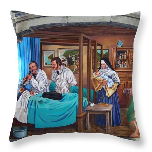 Paint Throw Pillow featuring the photograph Get Well Soon ... by Juergen Weiss
