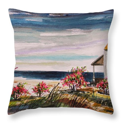 Beach Throw Pillow featuring the painting Getaway by John Williams