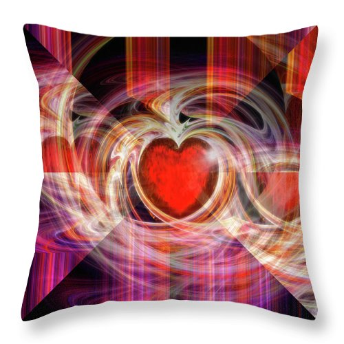 Digital Throw Pillow featuring the digital art Getting Back Together by Michael Durst