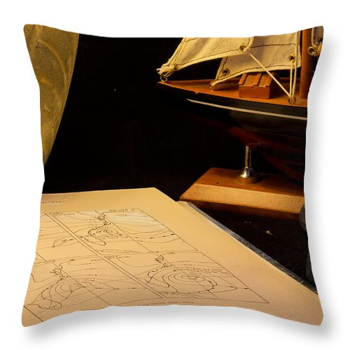 Nautical Throw Pillow featuring the photograph Getting Ready by Brian Roscorla