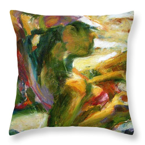 Dornberg Throw Pillow featuring the painting Getting Some Sun by Bob Dornberg
