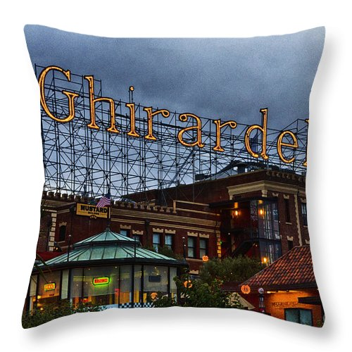 Ghirardelli Square Throw Pillow featuring the photograph Ghirardelli Square by Chuck Lapinsky