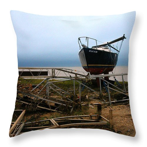 Clay Throw Pillow featuring the photograph Ghost by Clayton Bruster