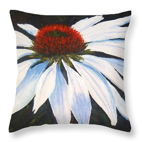Cone Flowers Throw Pillow featuring the painting Ghost Cone by Tami Booher