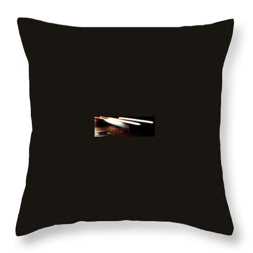 Car Headlights Throw Pillow featuring the photograph Ghost by Eduardo Hugo