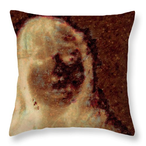 Photo Booth Throw Pillow featuring the digital art Ghost Girl by J Riley Johnson