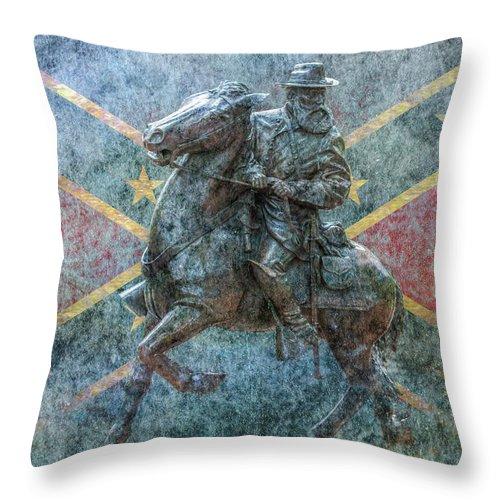 Ghost Of Gettysburg Throw Pillow featuring the digital art Ghost Of Gettysburg Verson Three by Randy Steele