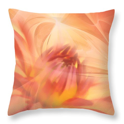 Flower Throw Pillow featuring the mixed media Ghost Of Ophelia by Georgiana Romanovna