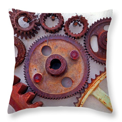 Gears Throw Pillow featuring the photograph Ghost by Skip Hunt