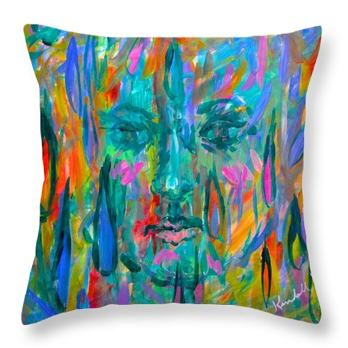Face Throw Pillow featuring the painting Ghost Tears by Kendall Kessler
