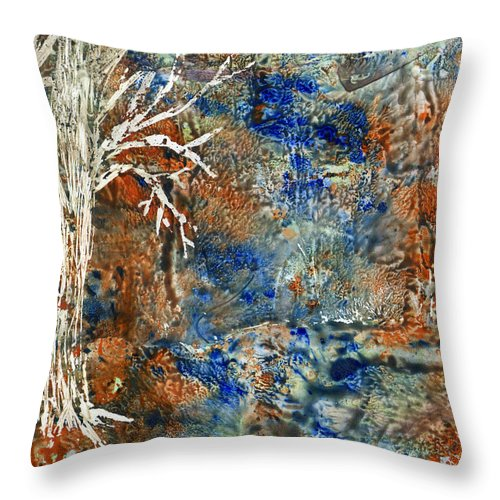 Trees Throw Pillow featuring the painting Ghost Trees by Wayne Potrafka