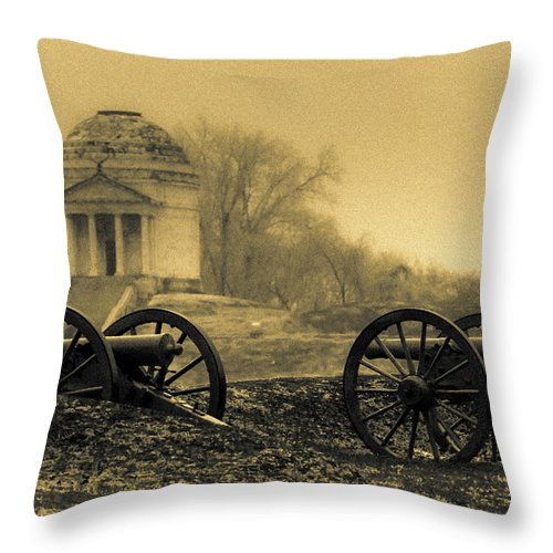 Civil War Throw Pillow featuring the photograph Ghosts Of Vicksburg by Kevin Esterline