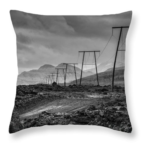 Iceland Throw Pillow featuring the photograph Giant Steps Are What You Take by Neil Alexander