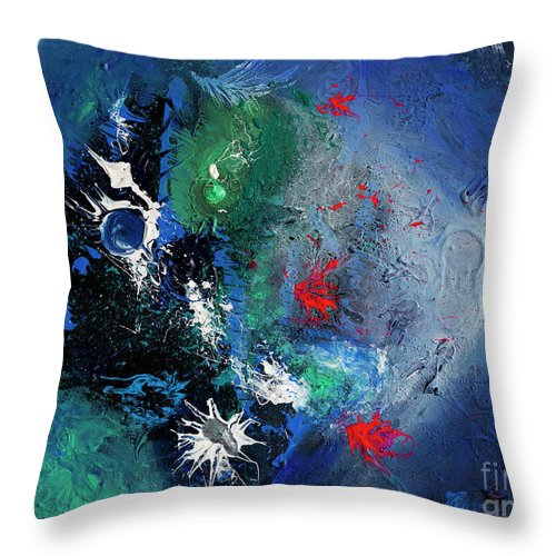 Throw Pillow featuring the painting Gibbous by Pink Plumbus