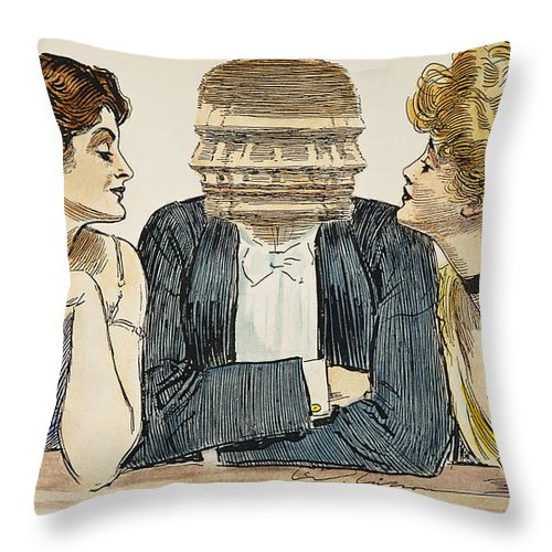 1903 Throw Pillow featuring the photograph Gibson Girls, 1903 by Granger