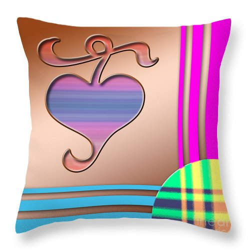 Clay Throw Pillow featuring the digital art Gift Of Love by Clayton Bruster
