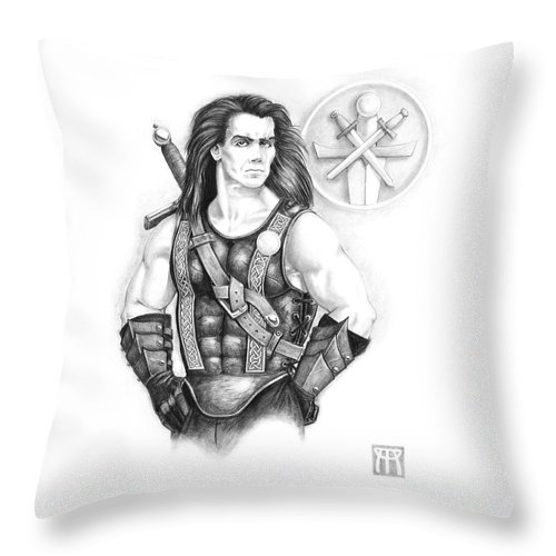 Celtic Throw Pillow featuring the painting Giles Dancer by Melissa A Benson
