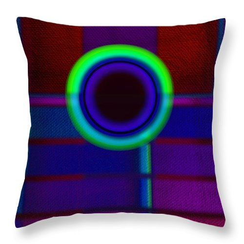 Portal Throw Pillow featuring the painting Ginza Blue by Charles Stuart